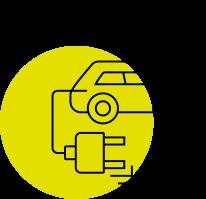 Ładowanie pojazdów - ikona
